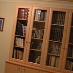 Framed Glass Door Library