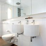 White Bathroom Joinery with Mirror shaving cabinets